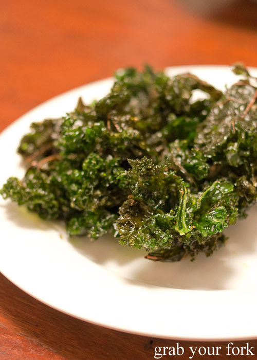 deep fried kale with salt and vinegar