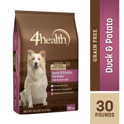 4health Grain Free Duck & Potato Formula Dog Food, 30 lb. Bag at Tractor Supply Co.