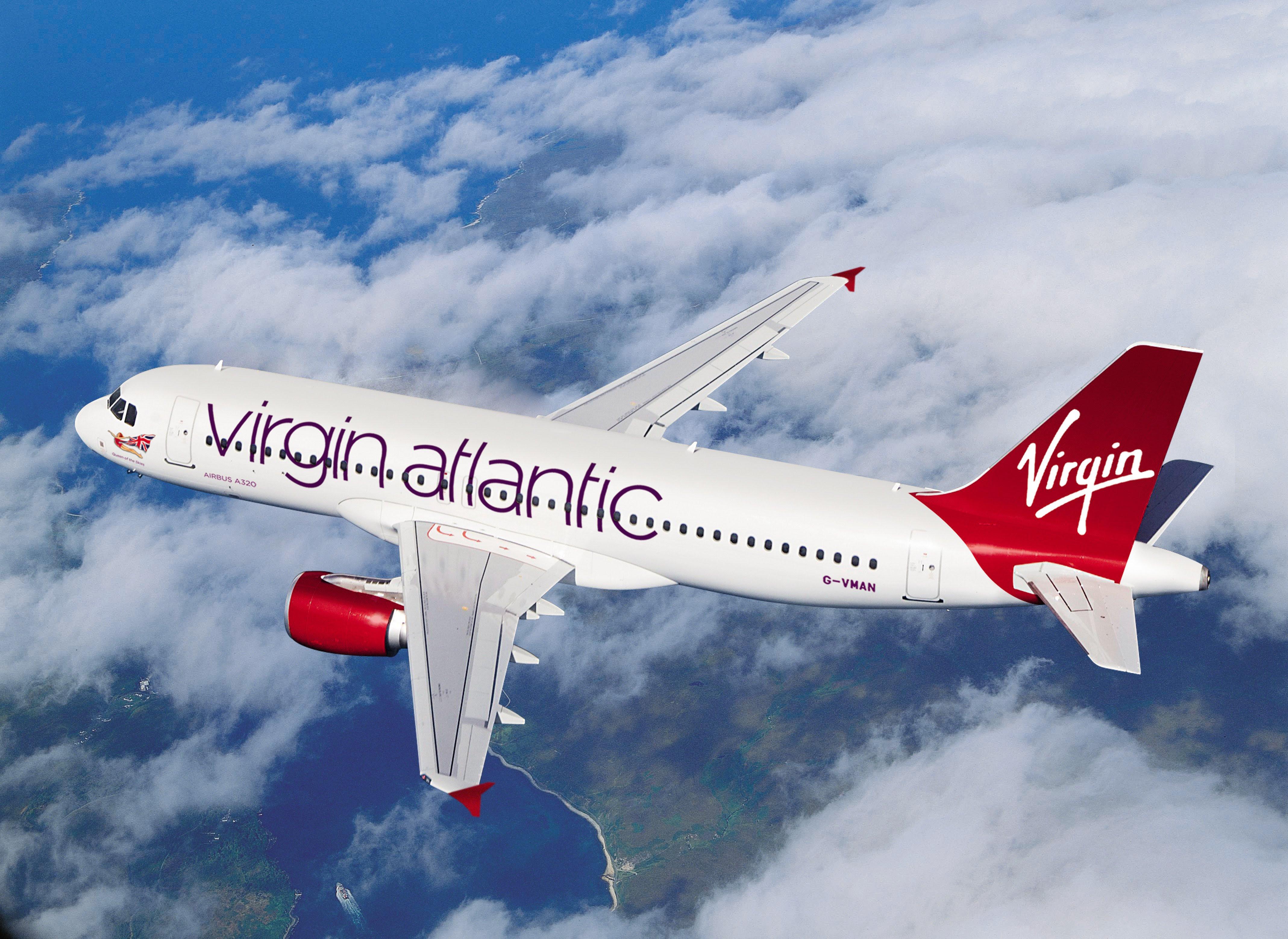 Image result for photos of virgin atlantic planes