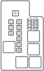 Mazda 626 (1997 - 2002) - fuse box diagram - Auto Genius