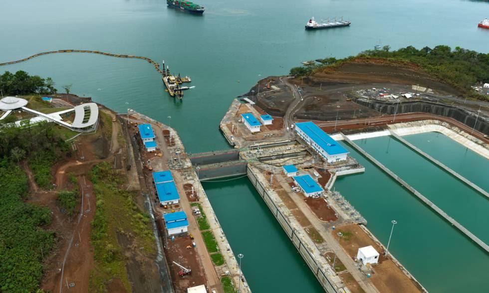 Las nuevas esclusas del Canal de Panamá.
