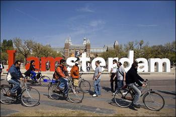 Biking in Amsterdam
