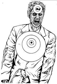 Free Online Printable Shooting Targets | Zombie Shooting Target by ...