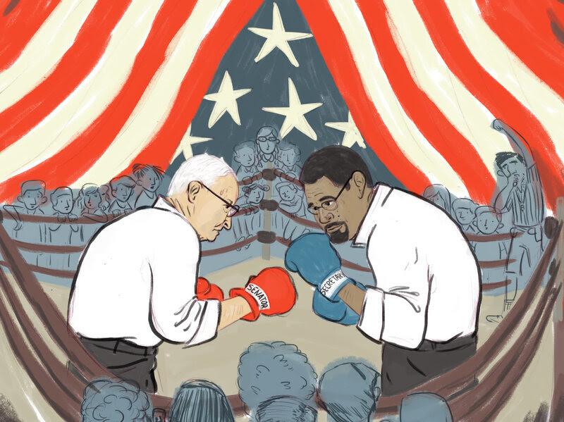 Sen. Lamar Alexander, R-TN, and Education Secretary John B. King in the ring over Title I enforcement.