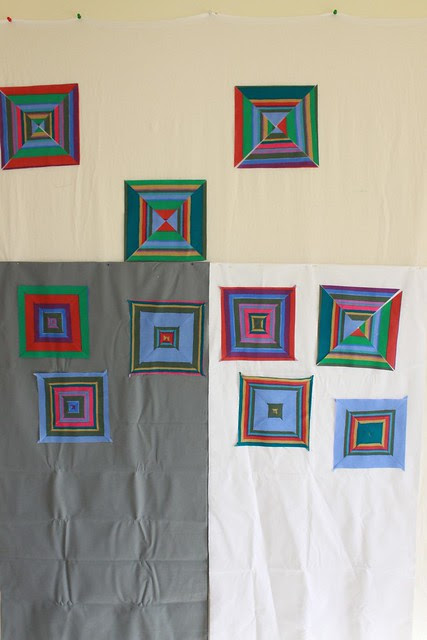 Wonky squares quilt - the design process