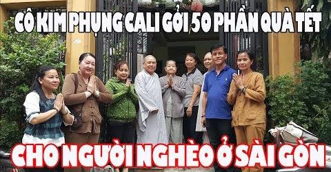Cô Kim Phụng Cali gởi 50 phần quà Tết giúp người già người nghèo bệnh tật ở Sài Gòn