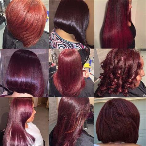 burgundy hair  vivid hues shades youll  love wearing  fall hair motive hair motive