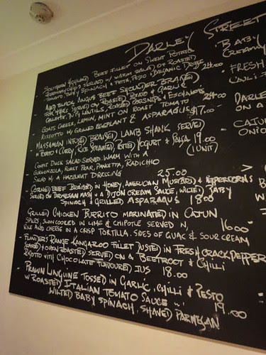 Mains menu