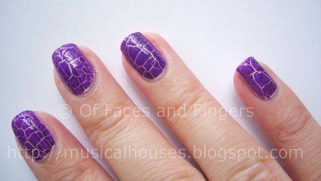 kelier purple shatter nail polish 2
