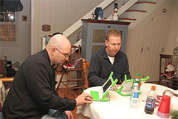 John and Jim playing tetris