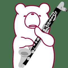 Lineスタンプクマなのにバスクラリネット吹きます 24種類 240円