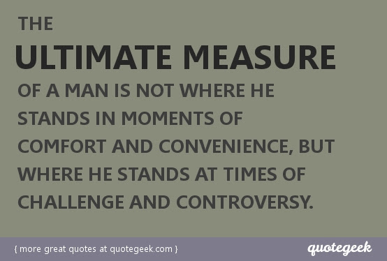 Quotes About Measuring A Man 23 Quotes