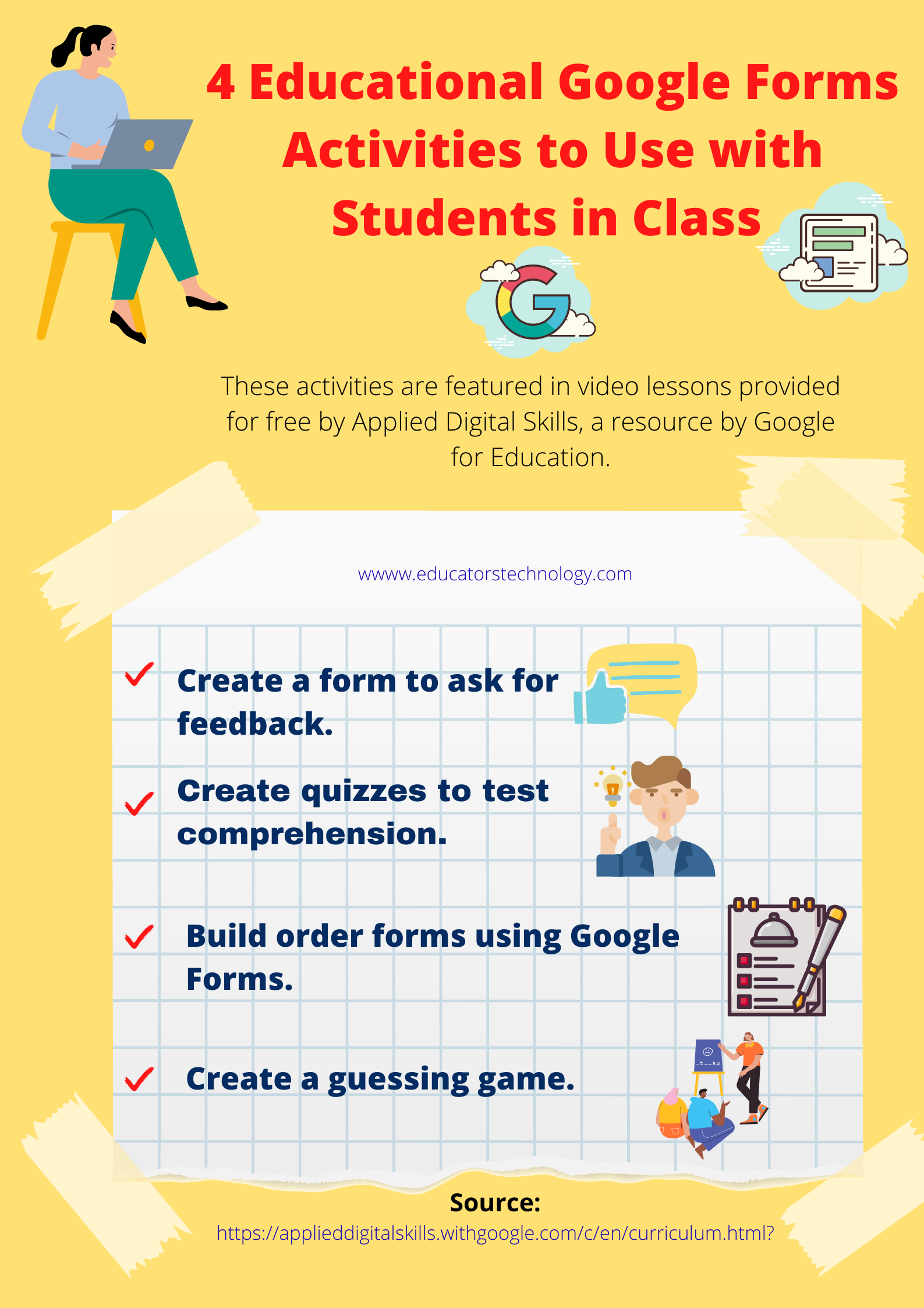 4 Educational Google Forms Activities to Use with Students in Class