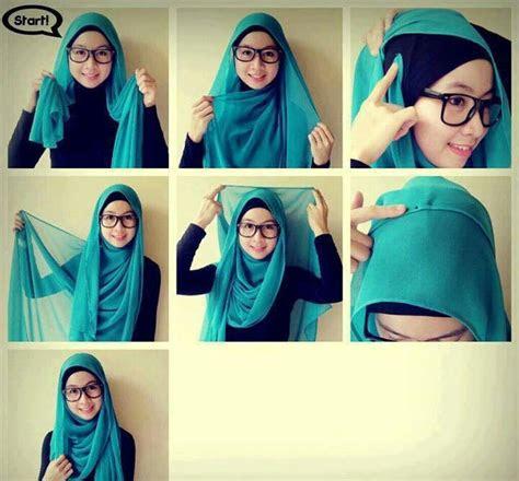 tutorial  memakai jilbab pashmina modis  menawan