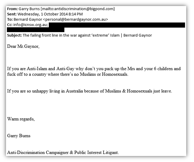 Burns email 2
