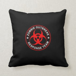 Zombie Response Team Bio Hazard Pillow Walking