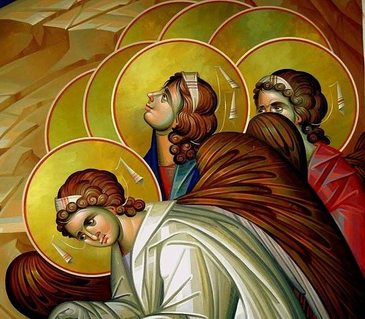 """Αποτέλεσμα εικόνας για """"Τέσσερα αγγελικά τάγματα πήγαν και στάθηκαν στα τέσσερα σημεία του ναού"""""""