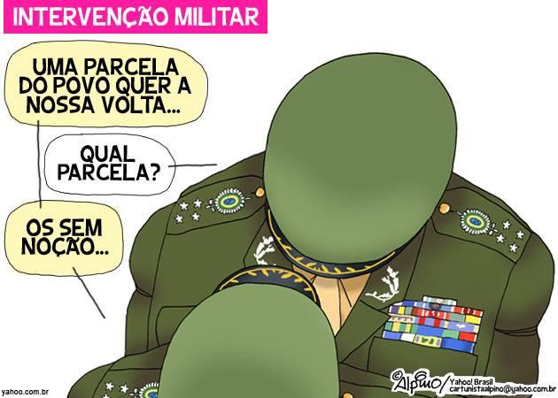 Resultado de imagem para volta dos militares charges