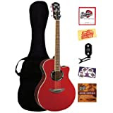 Yamaha APX500 Thinline Cutaway Acoustic-Electric Guitar Bundle with Gig Bag, Tuner, Instructional DVD, Strings...