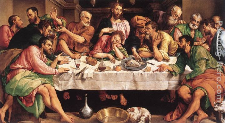 Jacopo Bassano The Last Supper Painting Anysize 50 Off The Last