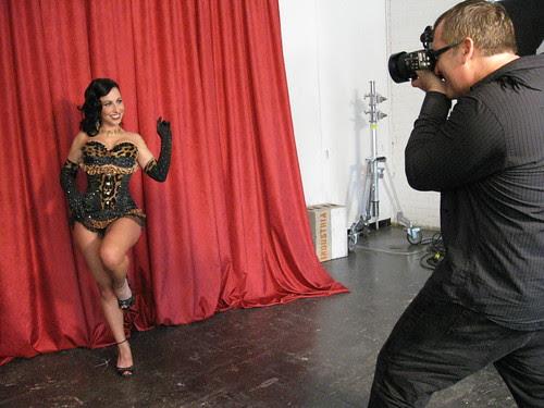 Brian Smith photographing Angie Pontani