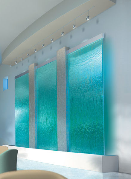 Glass Water Fountains Indoor Wall Waterfall