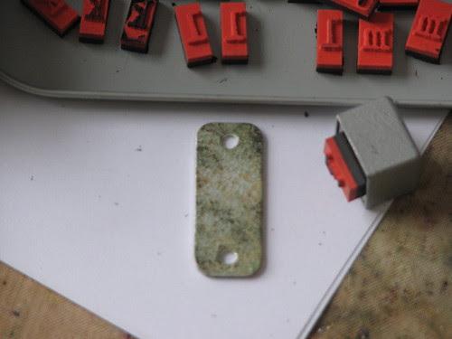 metal charm tag