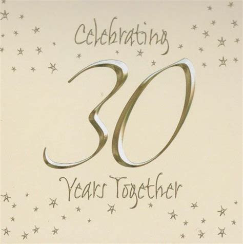 30th Happy Wedding Anniversary Invitations Cards   My