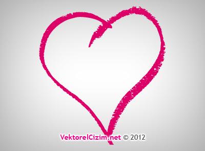 Vektörel çizim Kalp