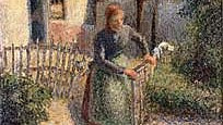 'Shepherdess Bringing in Sheep' by Camille Pissarro (photo credit: public domain, Wikimedia Commons)