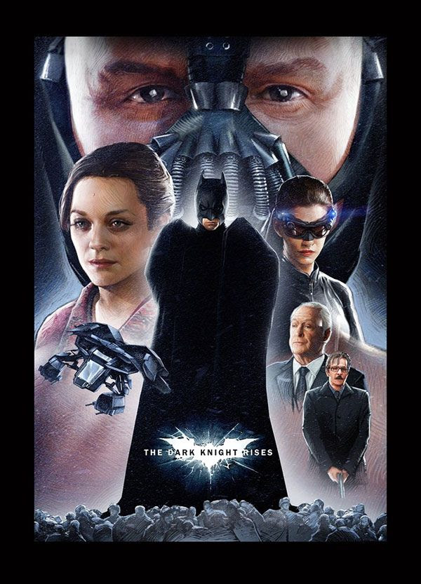 THE DARK KNIGHT RISES fan-made poster.