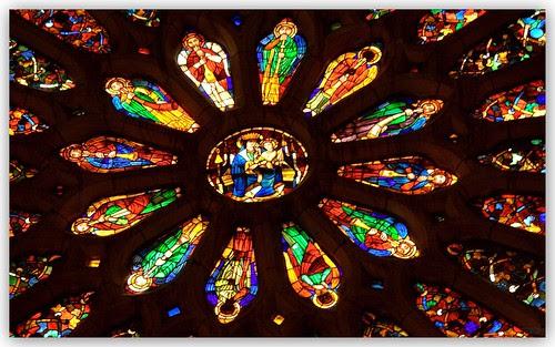 del gran rosetón de la catedral de de león