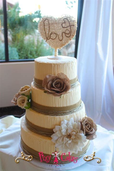 Rustic Country Wedding Cake ? Pixy Cakes
