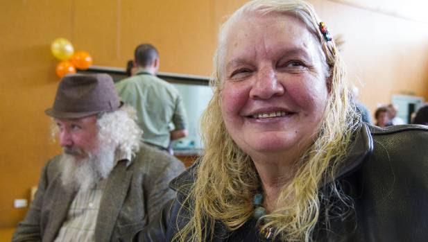 Jon Schrader and first-time attender Christine Fisher.