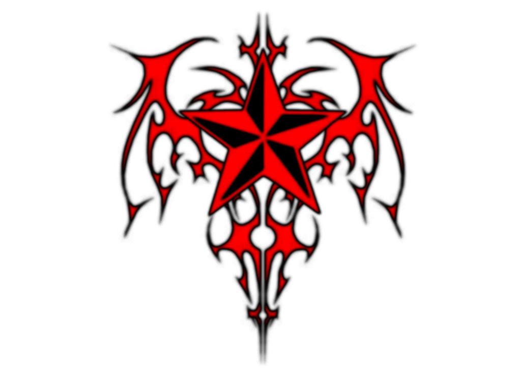 Red Nautical Star Tribal Patterns Star By Mystik808 Deviantart