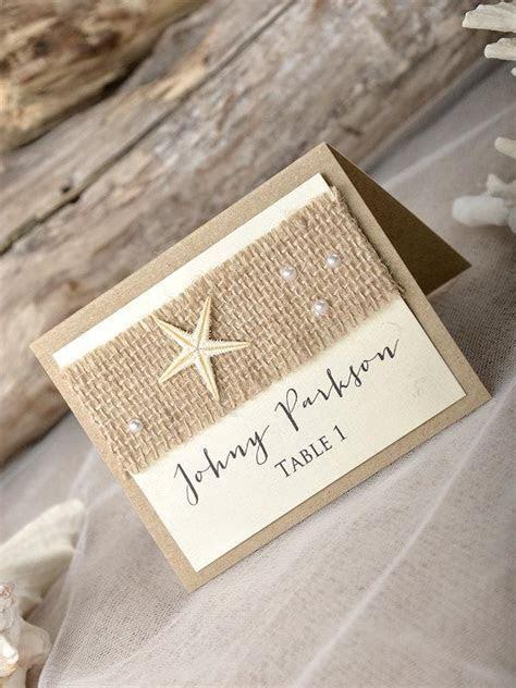 Rustic Beach Wedding Place Cads(20), Beach Place Cards