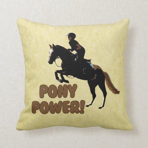 Cute Pony Power Equestrian Pillows