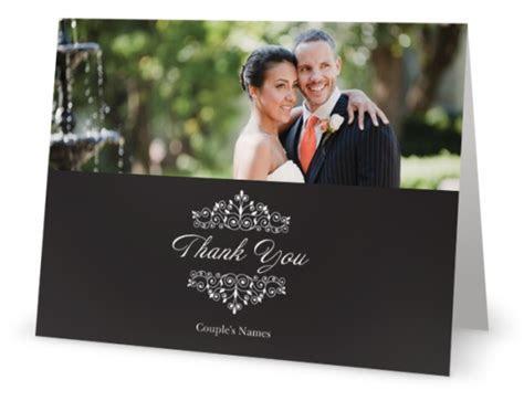 vistaprint wedding thank you cards with photo   Custom