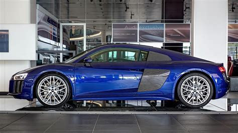 2016 Audi R8 V10 Gets Santorini Blue Paint and Havana Brown Leather   autoevolution