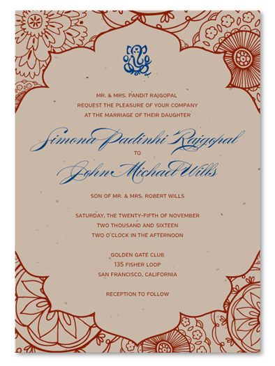 Plantable Sacred Colors Invitations