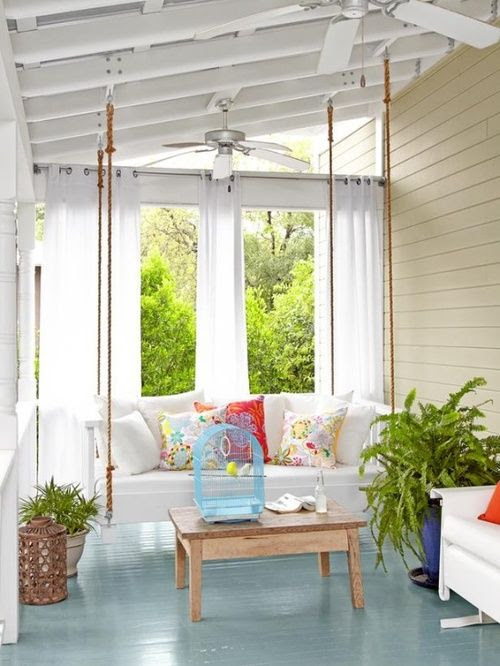 cottage style porch enclosed