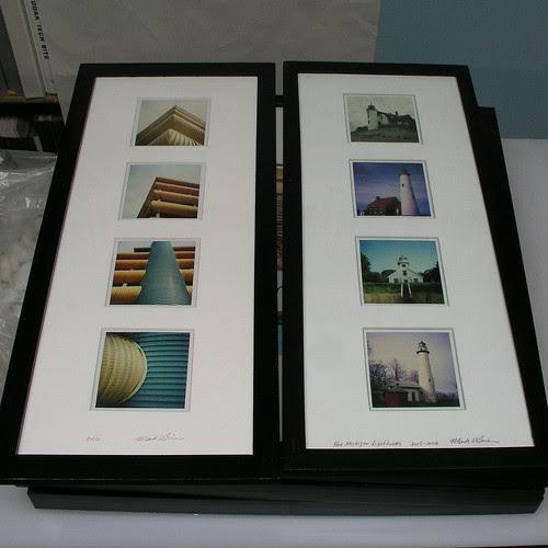 Two Polaroid pieces