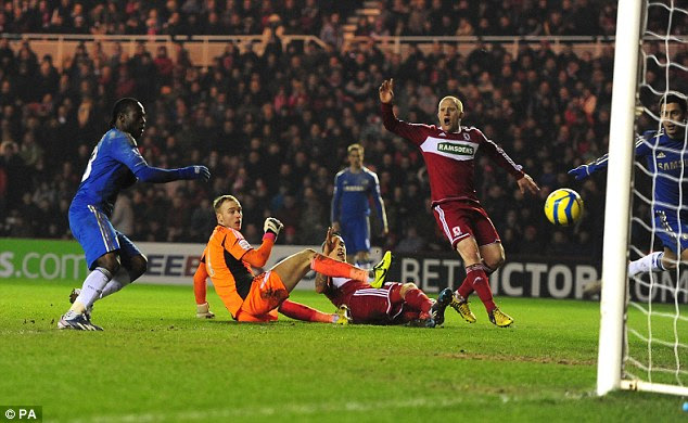 Double trouble: Victor Moses rolls home after great work from Oscar and Eden Hazard