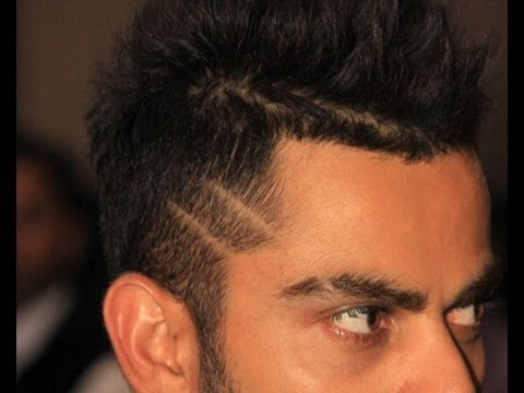 Virat challenges Dhoni with his new hair cut - YouTube