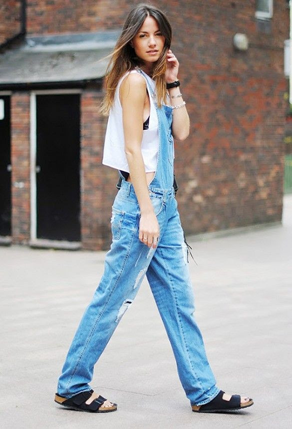 overalls + crop top + birkenstocks // perhaps the most difficult outfit combo ever?