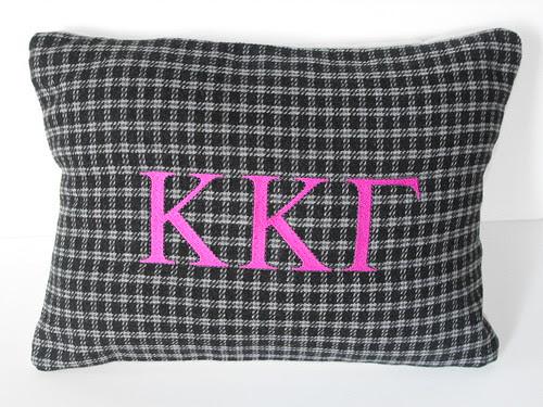 Sorority Monogrammed Pillow