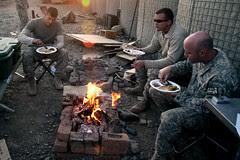 Thanksgiving on Combat Outpost Cherkatah, Khow...