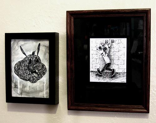2 newer pieces framed