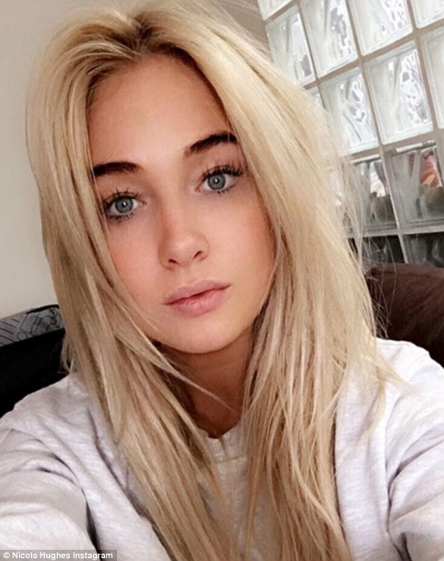 Blonde ambition: The model and reality star shared another snap of herself on Instagram as she raved about her 'silky' hair