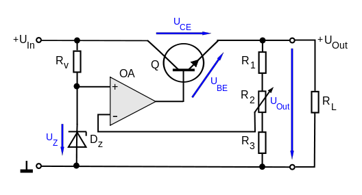 Regulator Using an operational amplifier(OP-AMP)